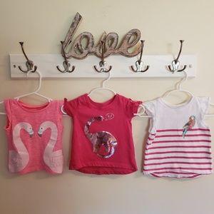 Bundle of 3 Carter's infant shirts size 6 months